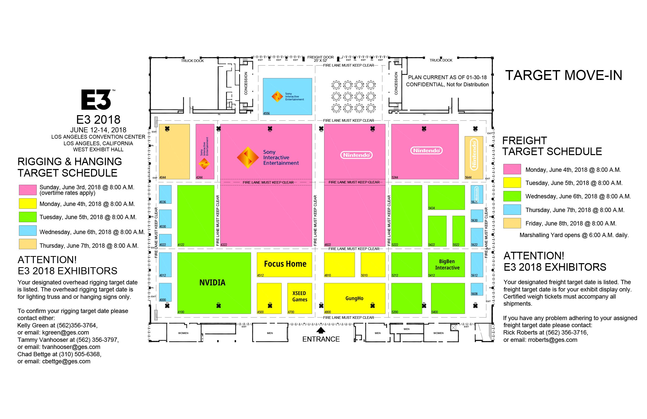 E3 2018 Preliminary Floor Plans Nintendo Everything