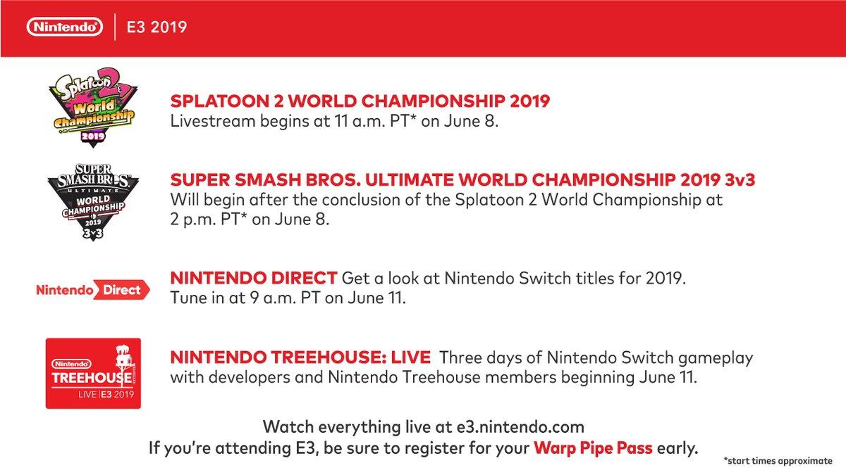 Nintendo announces full E3 2019 plans - Nintendo Direct, Nintendo