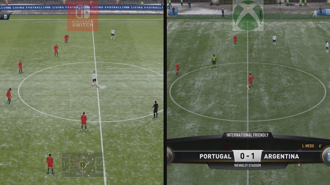 Video: FIFA 19 Switch vs  Xbox One graphics comparison - Nintendo