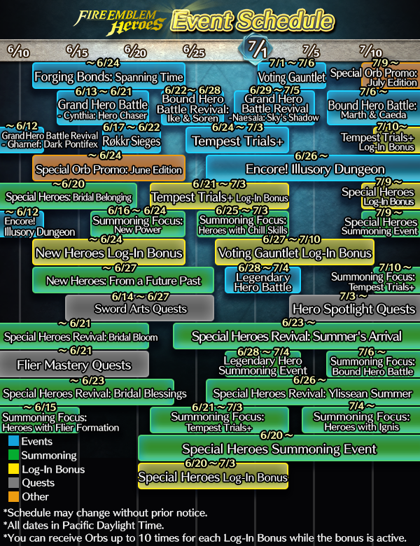 Whats New On Calendar >> Fire Emblem Heroes New Event Calendar Published Nintendo