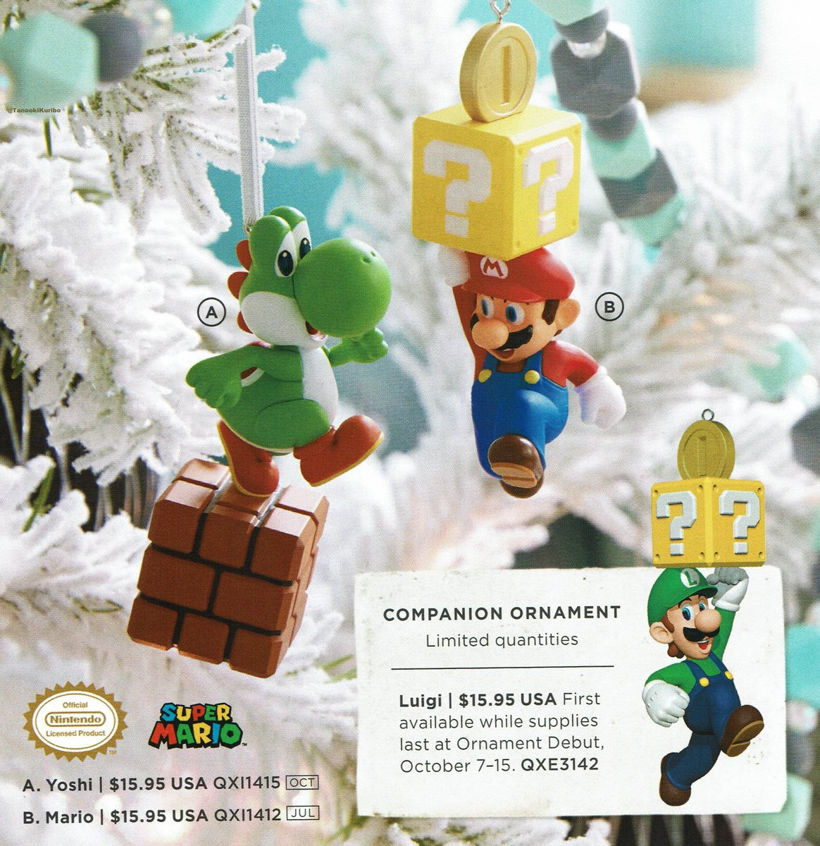 Hallmark planning Super Mario ornaments - Nintendo Everything