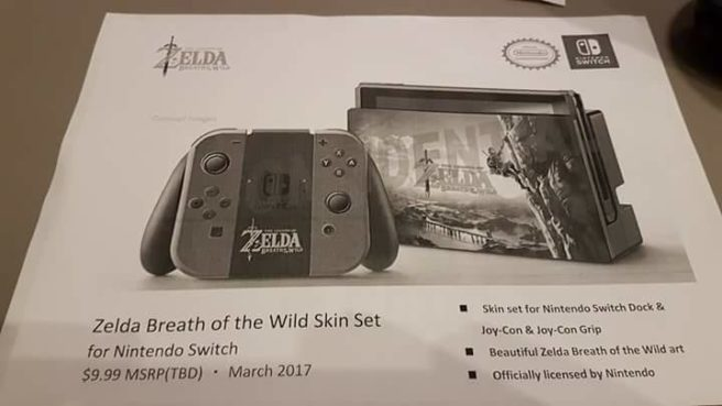 Tons of HORI Switch accessories leaked - Zelda tie-ins