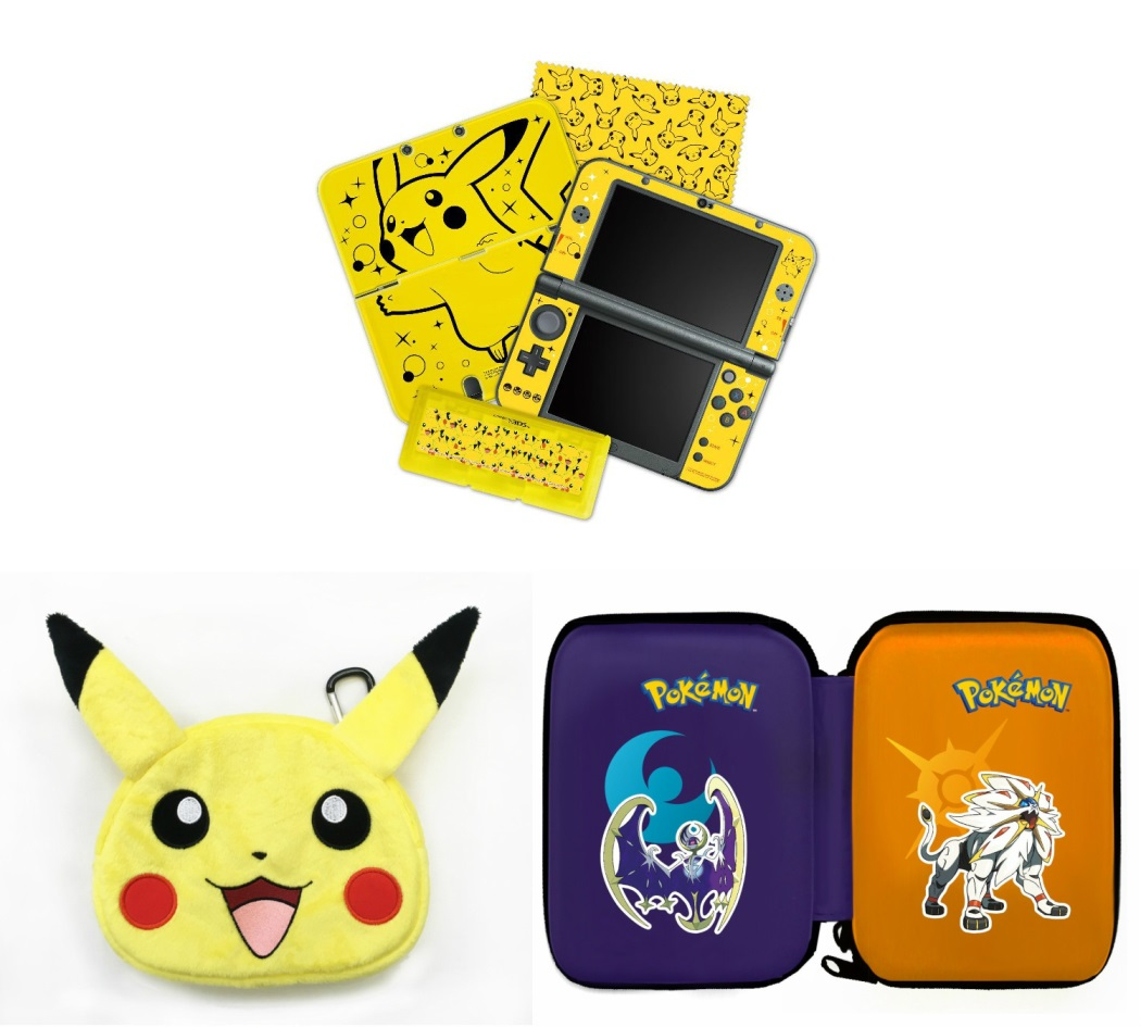 New Hori Pokemon 3ds Accessories Pikachu Pack Starter Kit Pouches Nintendo Xl Yellow Edition Posted On July 27 2016 By Brianne Brian In News