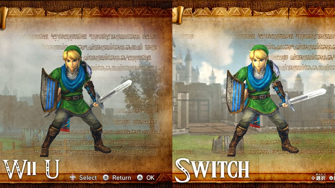 Hyrule Warriors Wii U Vs Switch Comparison Video Nintendo Everything