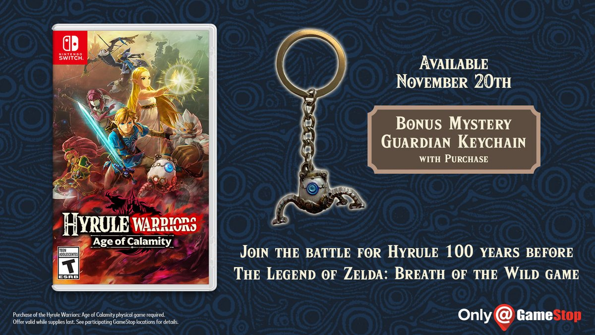 Pre Order Hyrule Warriors Age Of Calamity At Gamestop Get An Exclusive Keychain Nintendo Everything