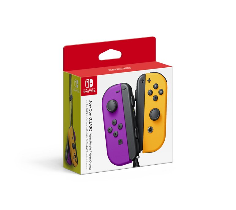 Blue/Neon Yellow and Neon Purple/Neon Orange Switch Joy-Con announced