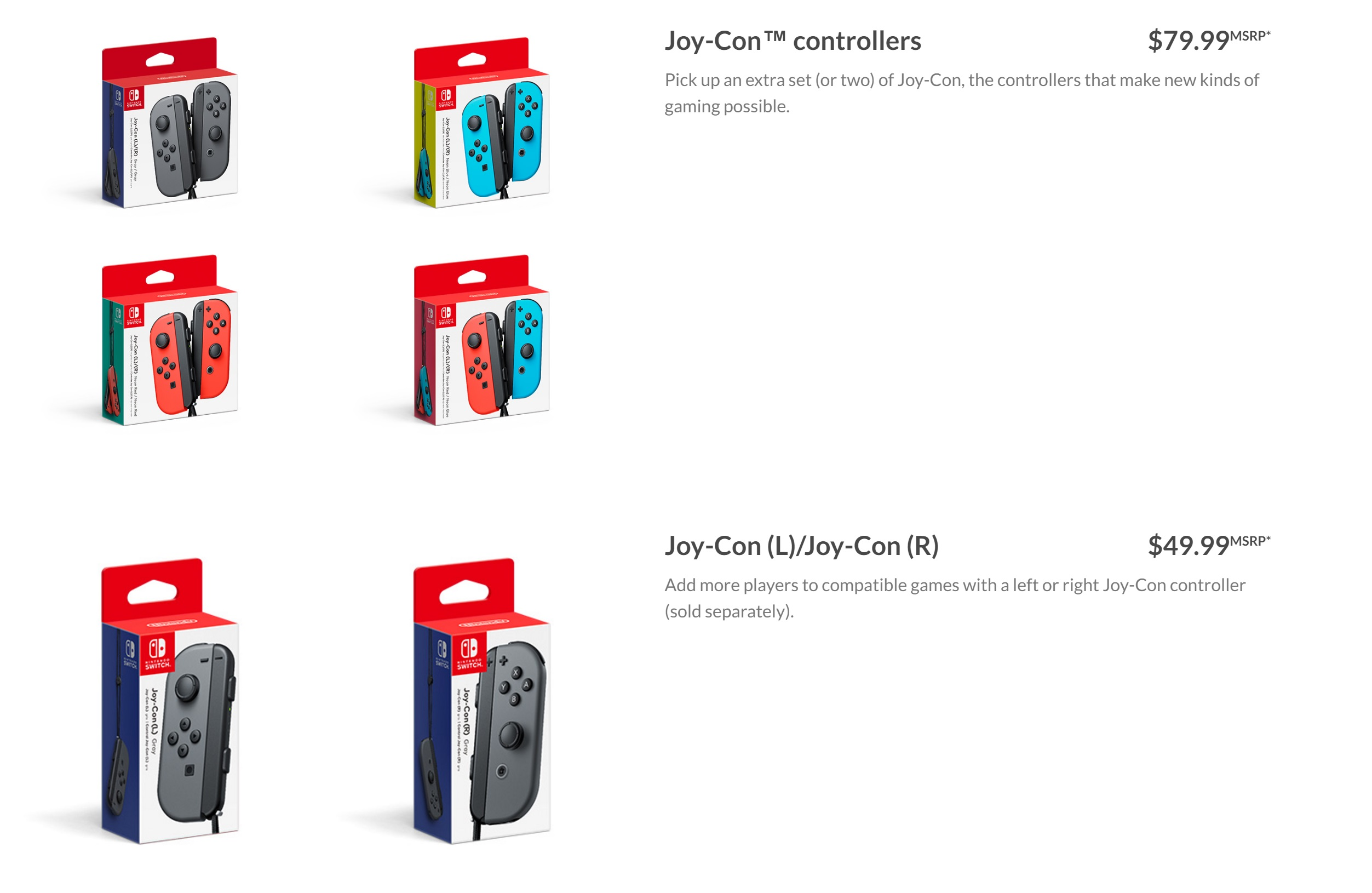 Switch Pricing For Joy Cons And More Nintendo Everything Con Controllers Grey Dock Set 8999 Msrp