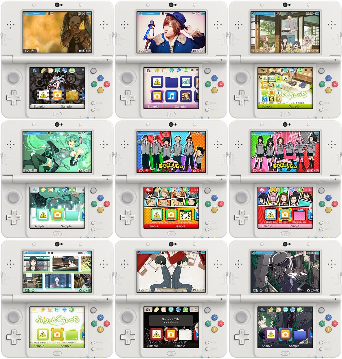 Japanese 3ds Themes 6 15 16 Nintendo Everything