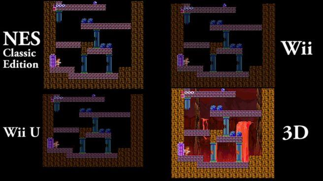 Kid Icarus comparison - NES Classic Edition vs  Wii U and