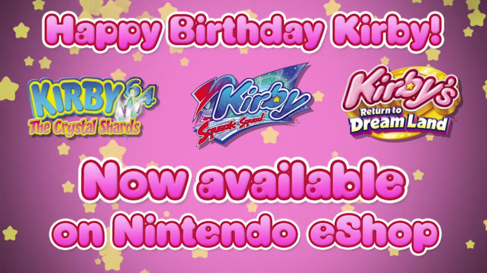 Trailer For Kirby Squeak Squad Kirby S Return To Dream Land And