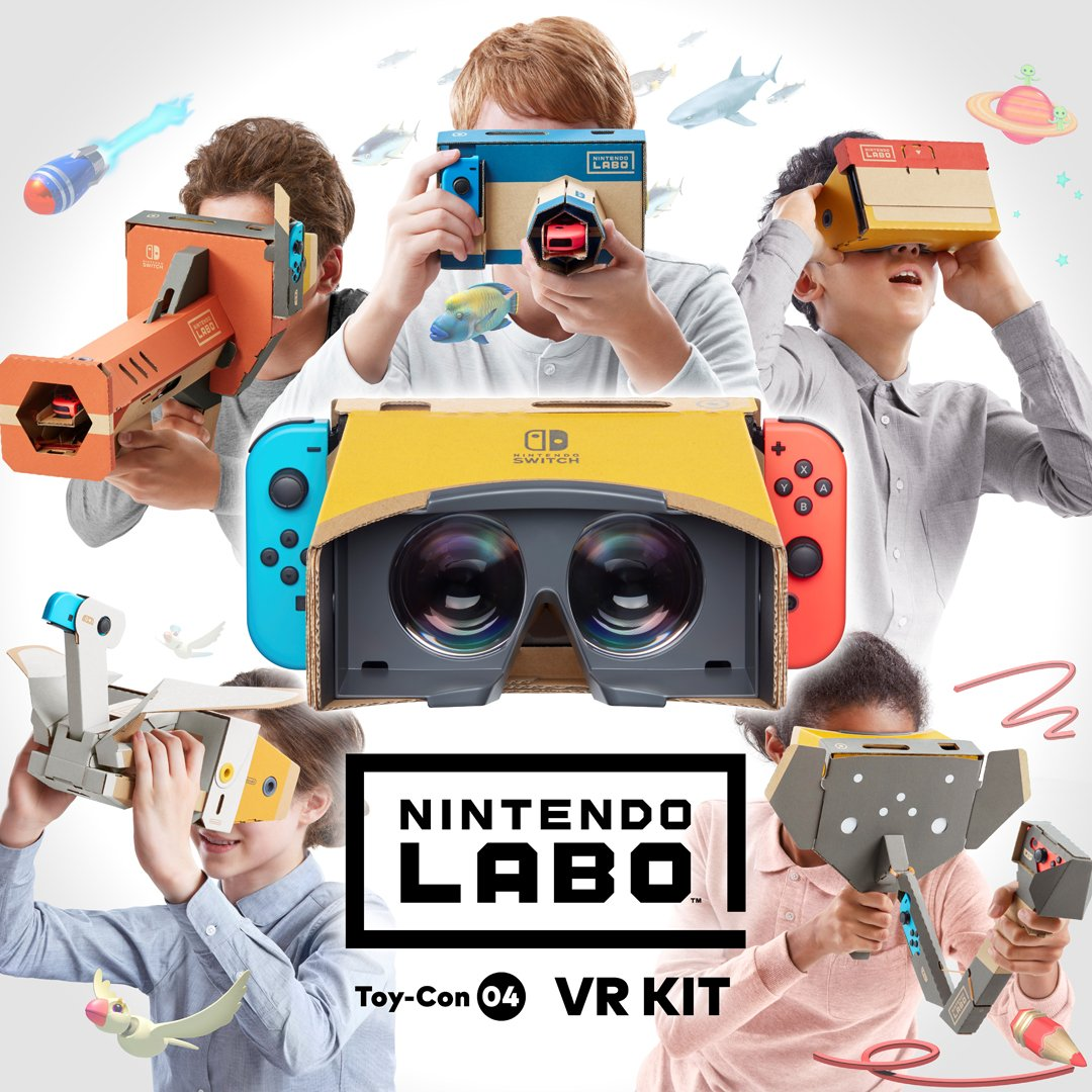 Nintendo Labo VR Kit intended for users aged 7 and over, safety overview