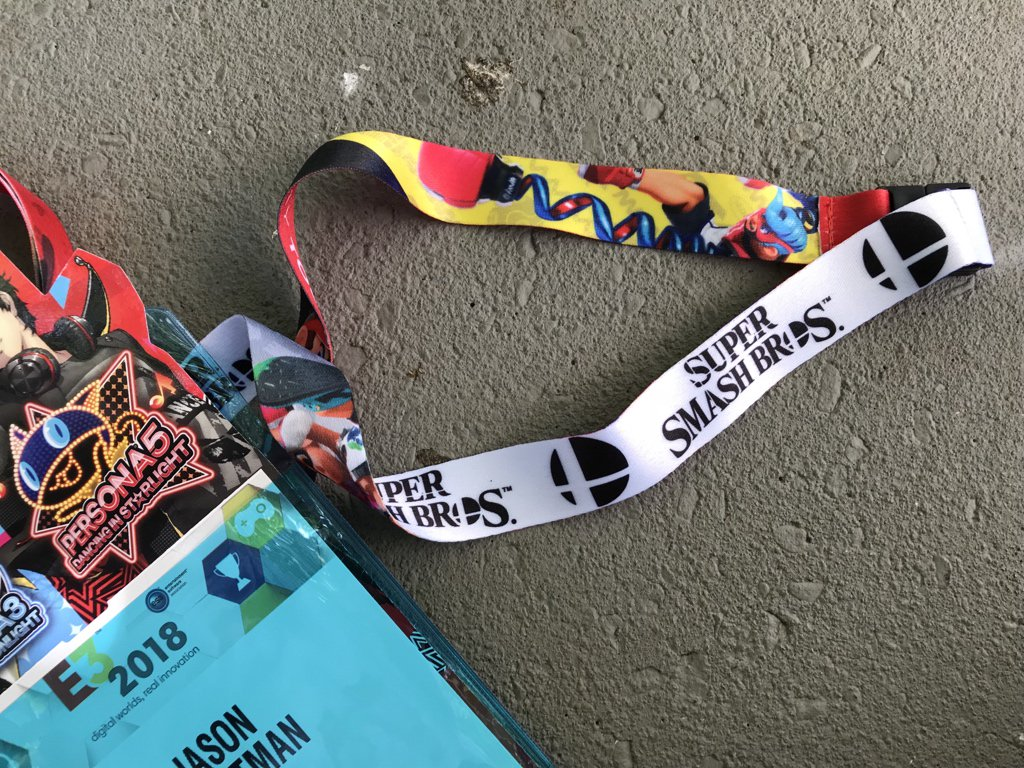 A look at Nintendo's E3 2018 lanyards - Nintendo Everything