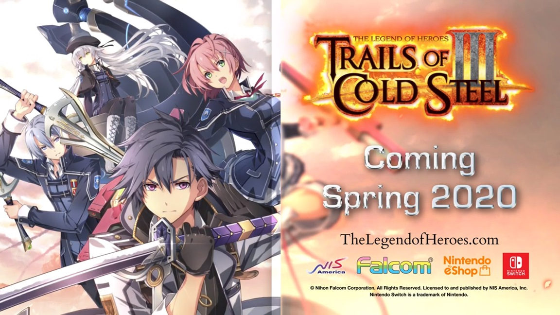 The Legend Of Heroes Trails Of Cold Steel Iii Launches For Switch
