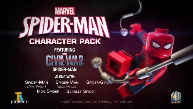 Spider-Man Character Pack out today for LEGO Marvel's Avengers ...