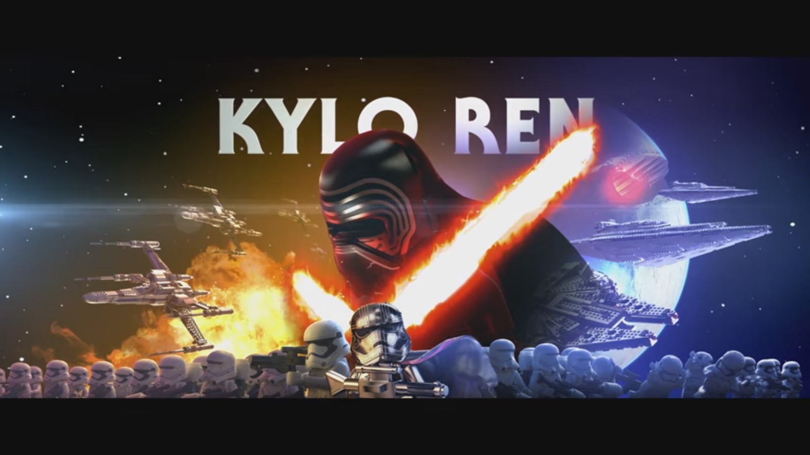 Lego Star Wars The Force Awakens Kylo Ren Character Vignette