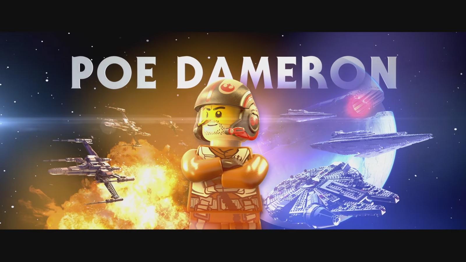 Lego Star Wars The Force Awakens Poe Dameron Character Vignette