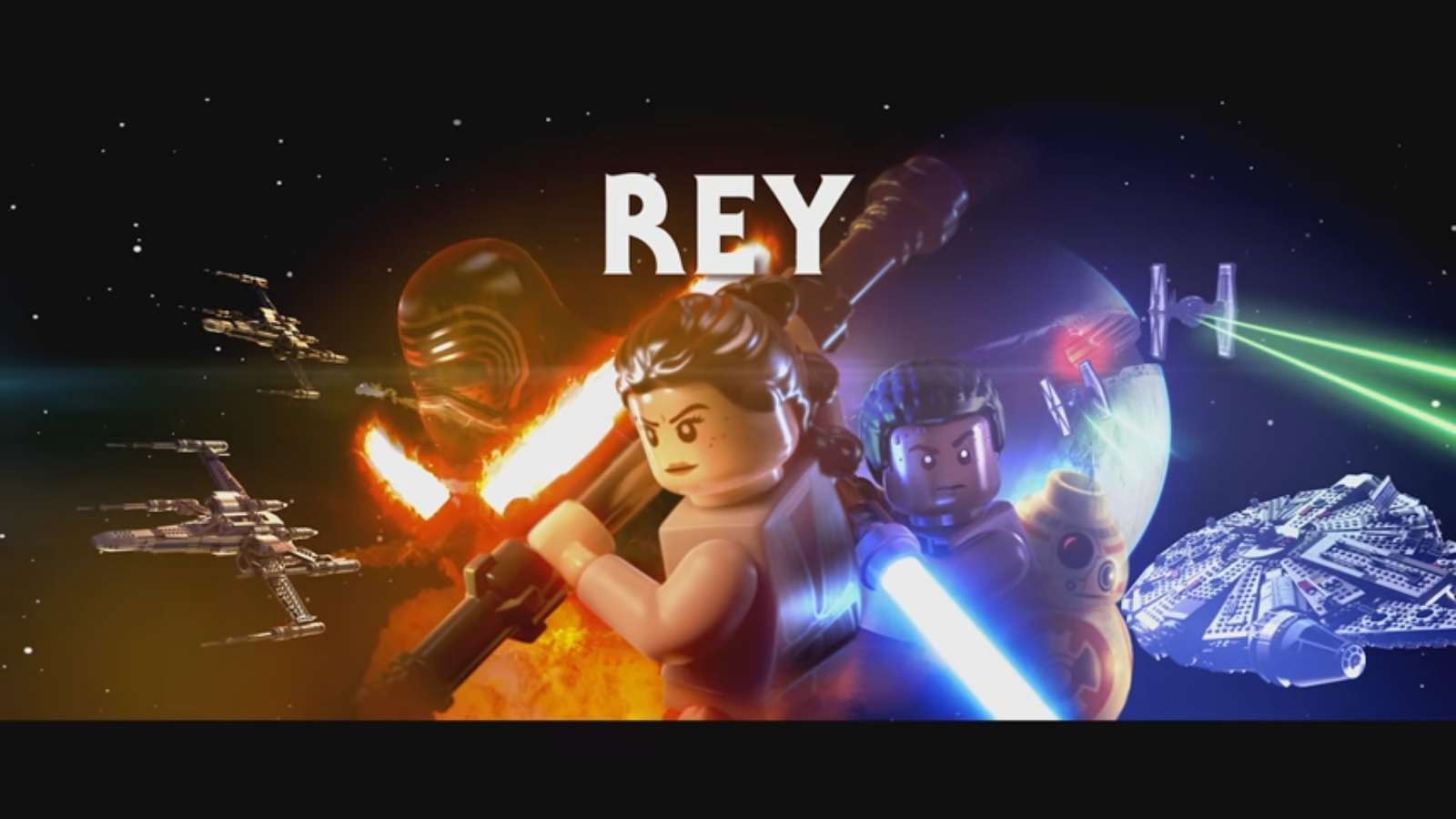 Lego Star Wars The Force Awakens Rey Character Vignette
