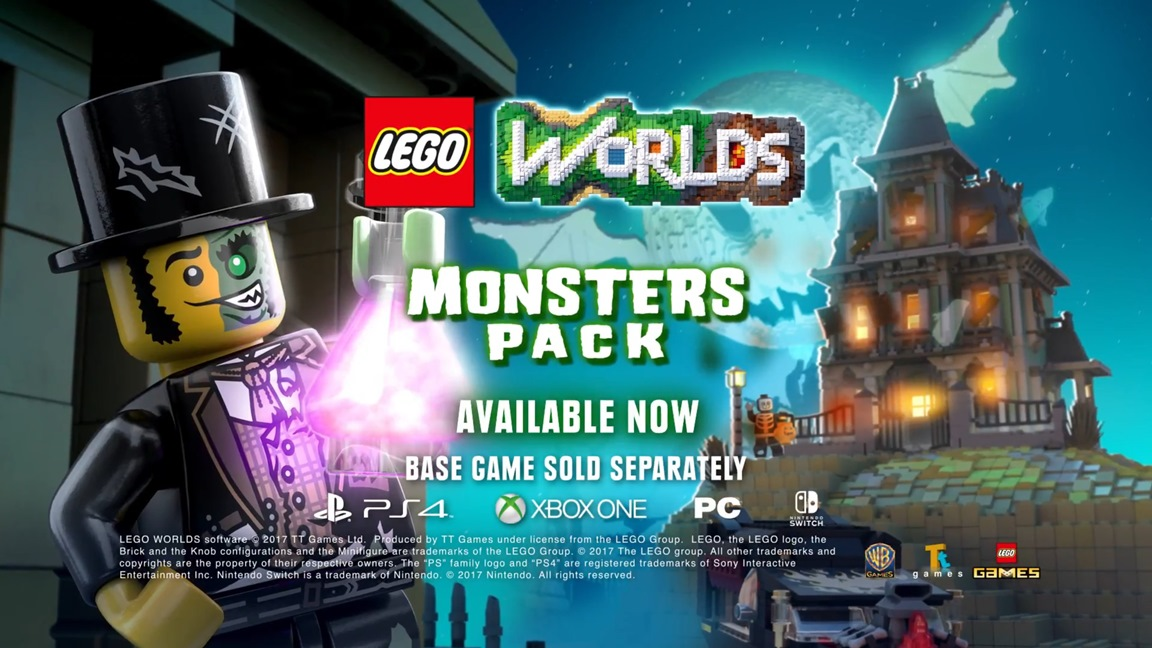 LEGO Worlds - Monsters Pack footage - Nintendo Everything