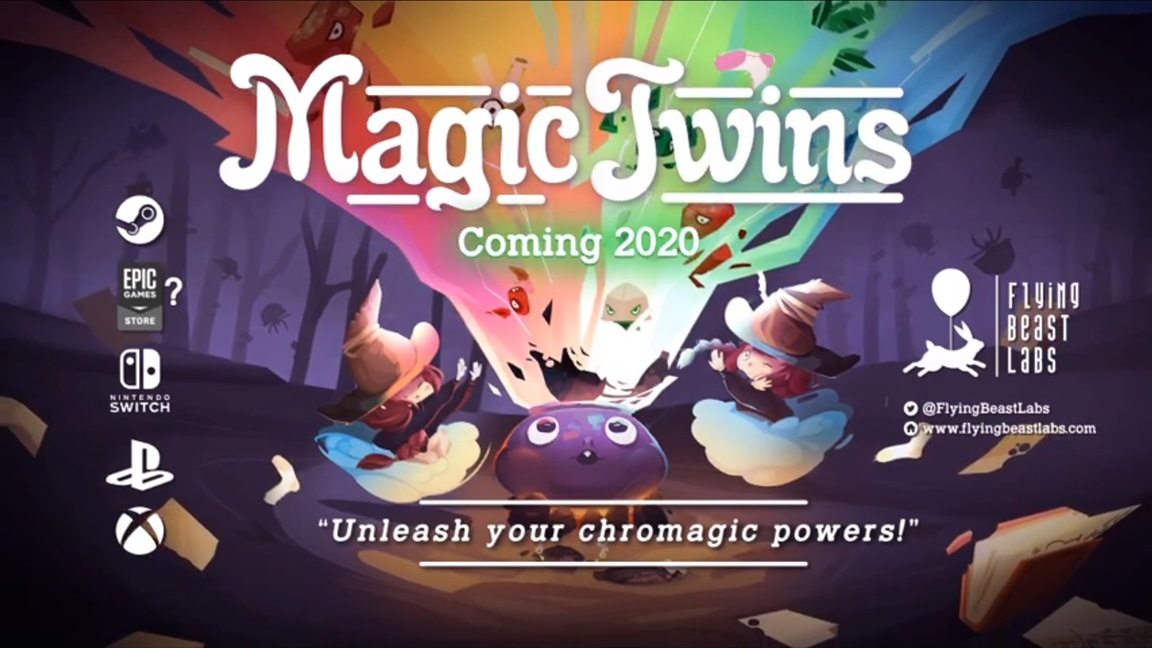 Games Coming Out October 2020.Co Operative Arcade Puzzle Game Magic Twins Coming To Switch