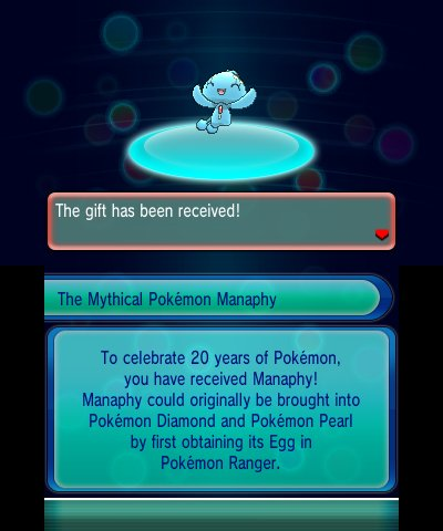 Manaphy Distribution Live For The Pokemon Games Nintendo