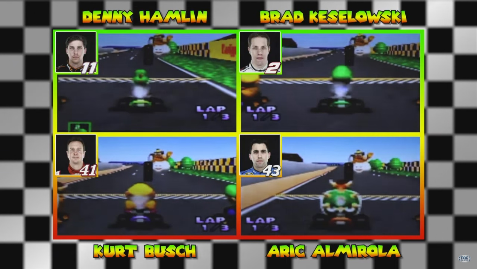 Video: NASCAR drivers play Mario Kart 64 - Nintendo Everything