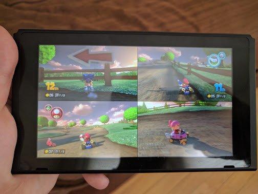 kart over split Mario Kart 8 Deluxe allows for four player split screen undocked  kart over split