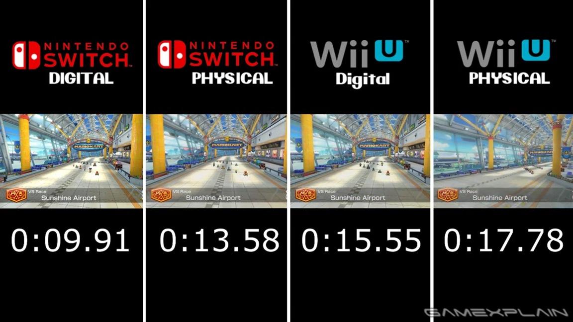 Mario Kart 8 Deluxe Load Times Video Comparison Switch Vs