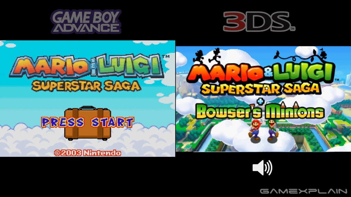 GameXplain put together a video comparing the original version of Mario & Luigi: Superstar Saga to the 3DS remake. Get a look at how the two stack up ...