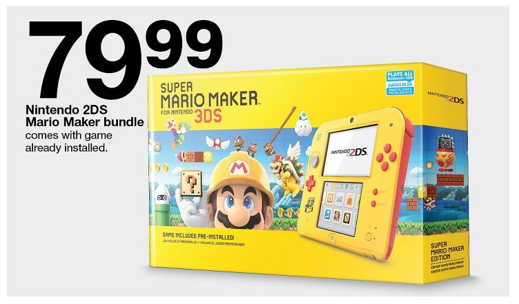 Target S Black Friday 2018 Deals Mario Maker 2ds And Mario