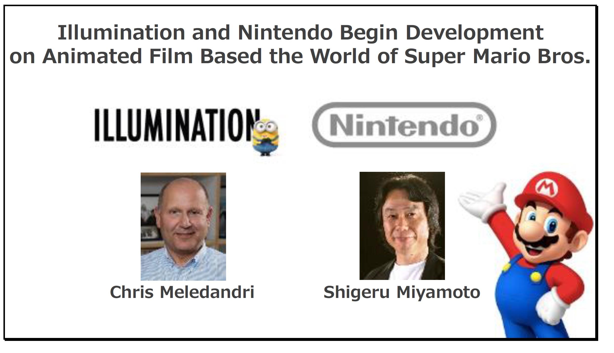 Illumination Artists Working On Super Mario Bros Animated Movie