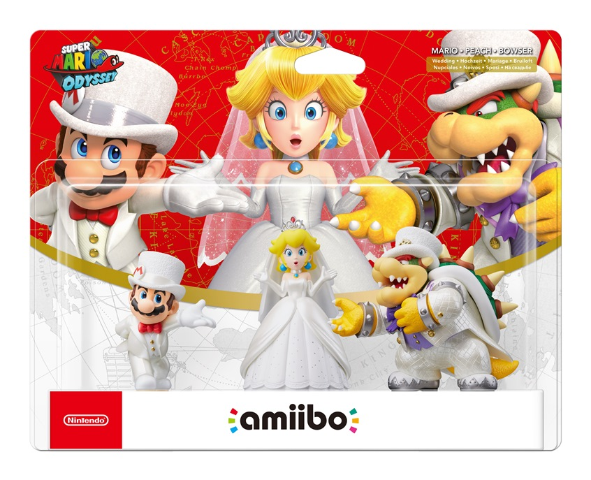 Packaging For The Super Mario Odyssey Amiibo 3 Pack