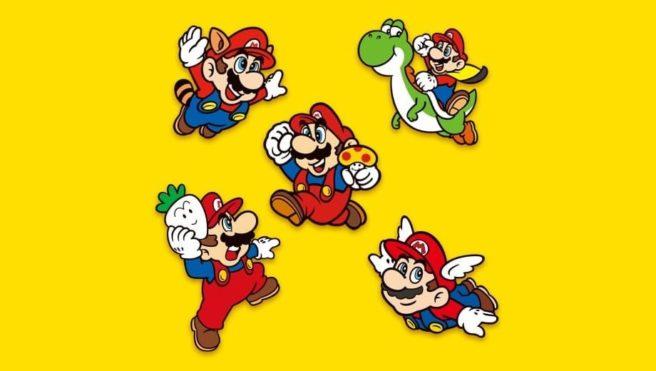 Super Mario Bros. collectible pin set