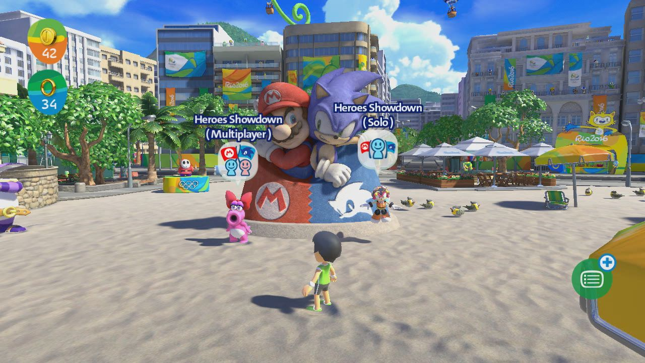 Mario and sonic at the olympic games 2019