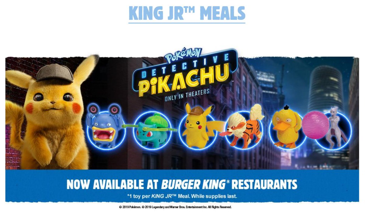 Pokemon: Detective Pikachu toys now available at Burger King