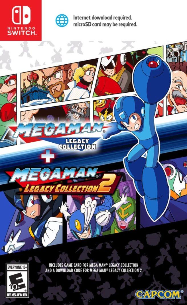 Mega man legacy collection 1 2 boxart nintendo everything capcom has revealed the boxart for mega man legacy collection 1 2 on switch take a look at it above voltagebd Images