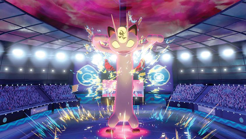 Pokemon Sword/Shield – Gigantamax Pikachu, Eevee, Charizard, Meowth, Butterfree footage