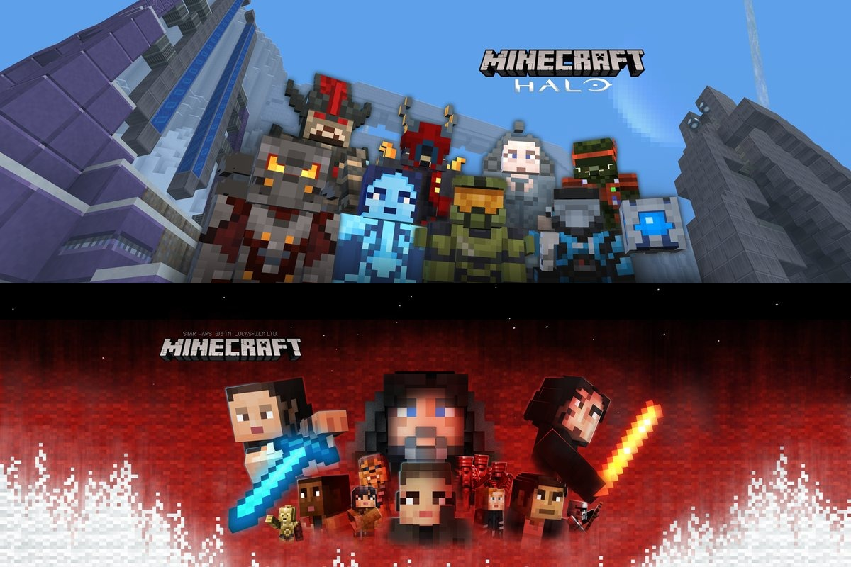 Minecraft Adds Halo Mash Up Pack And Star Wars Sequel Skin Pack On