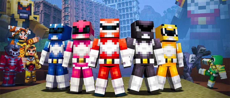 Minecraft Wii U Edition Power Rangers Skin Pack Footage - Skins para minecraft wii u edition