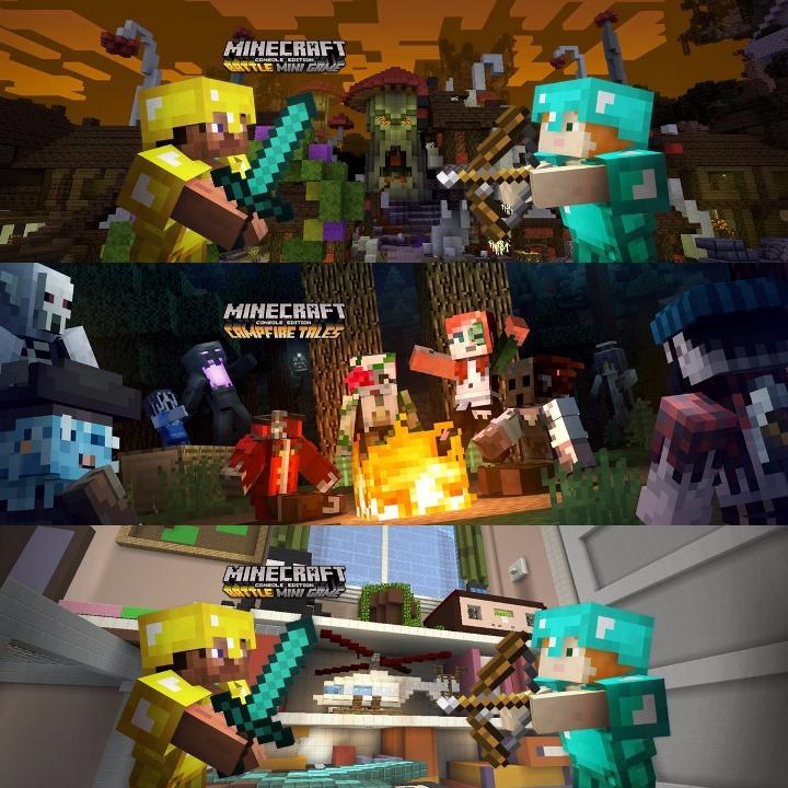 Minecraft Wii U Edition Halloween Dlc Battle Map Pack 4 Patch