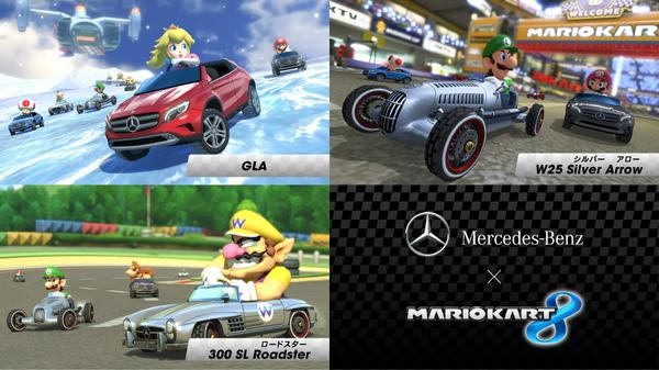 Mario Kart 8 Mercedes-Benz DLC has been downloaded over 1 million times