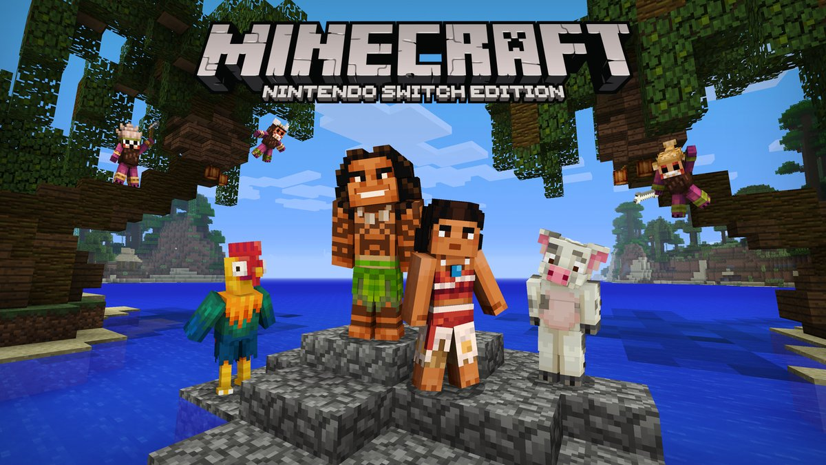 Minecraft Nintendo Switch Edition Moana Character Pack Footage
