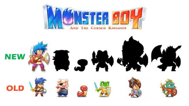 Monster Boy sprites reworked, game will have hand-drawn