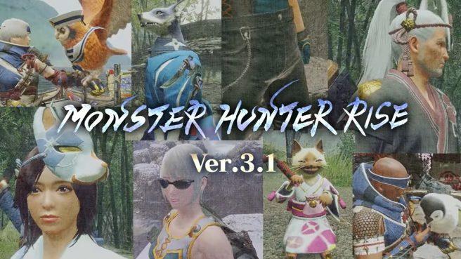 Monster Hunter Rise version 3.1.0 update