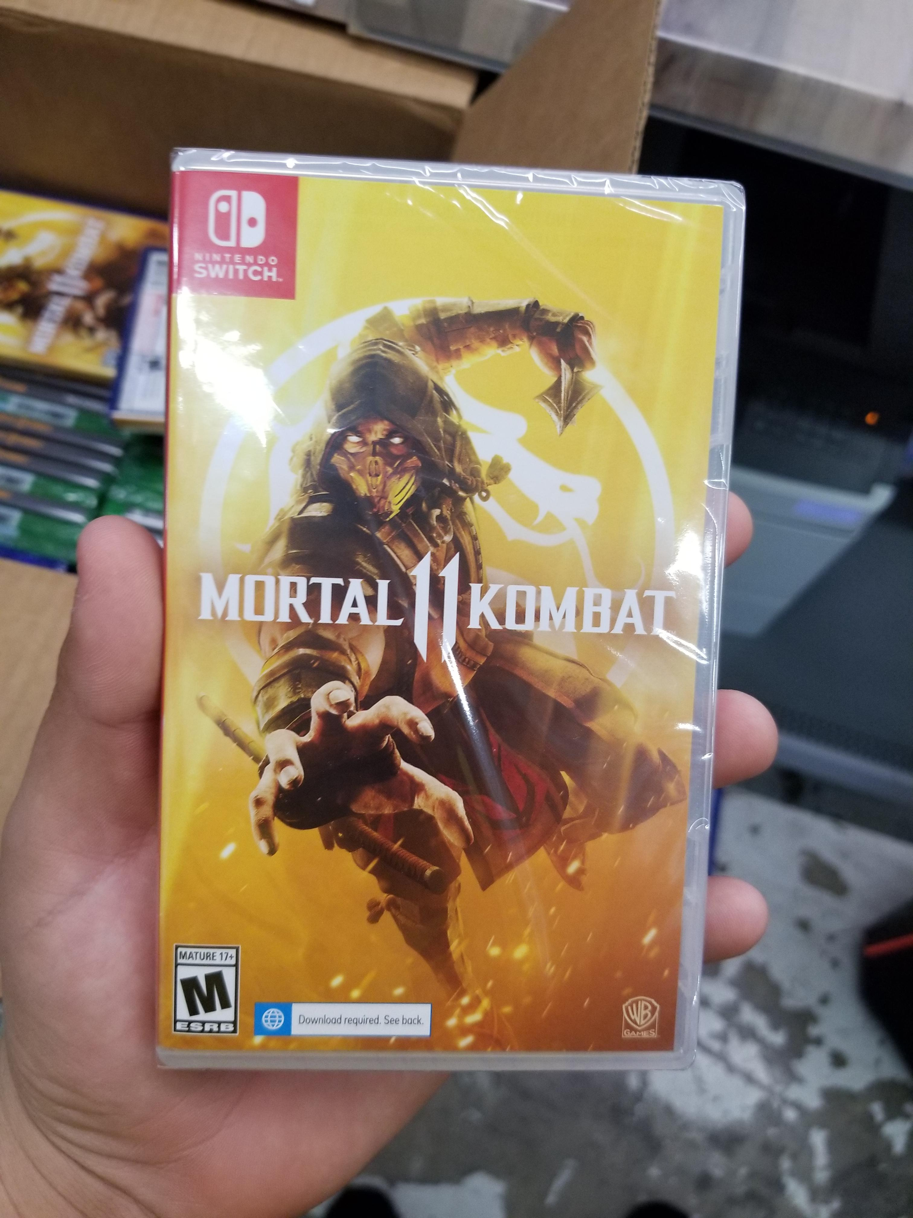 Mortal Kombat 11's physical version has a required download on