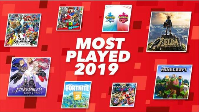 Nintendo Reveals Top 20 Most Played Switch Games Of 2019 In Europe Nintendo Everything