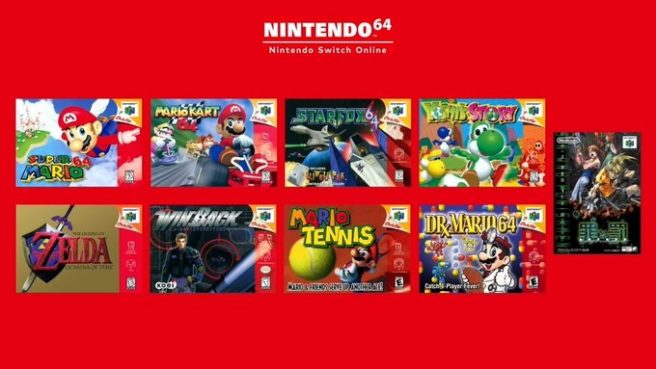 nintendo switch online all n64 games