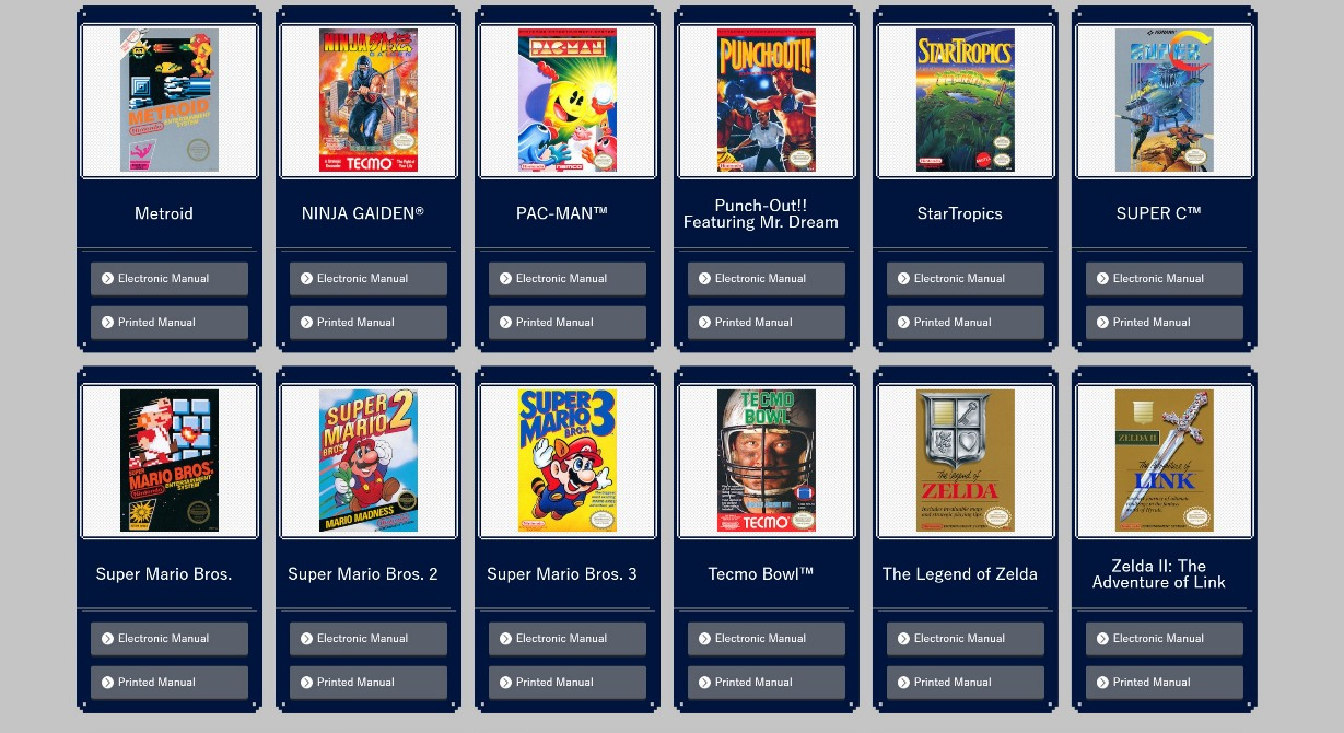 Nes Classic Edition Manuals Now Available Nintendo Everything