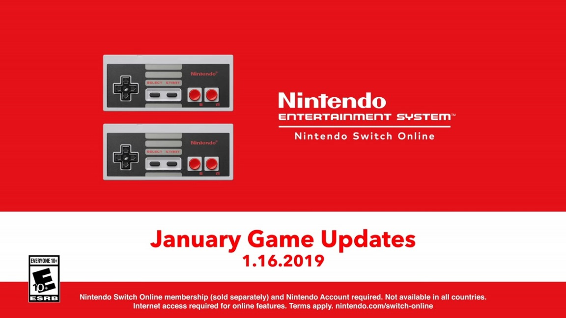 NES - Nintendo Switch Online update out now (version 2.1.0) - new games and SP versions