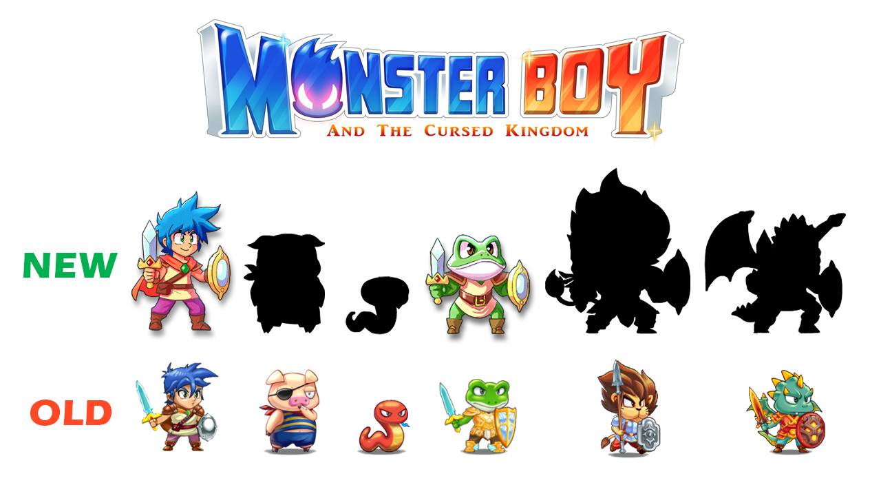 monster boy shows another one of its hand drawn characters