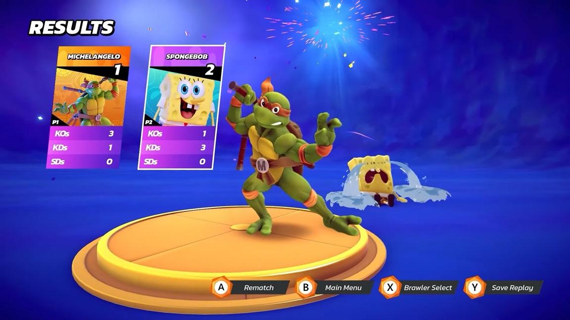 Nickelodeon All-Star Brawl Michelangelo